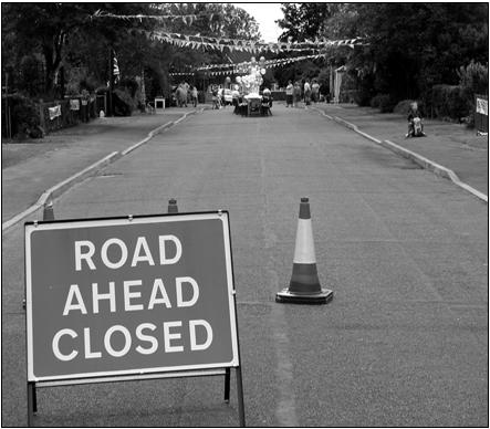 Heath Road Holtspur closed for party | Chambers, Tony