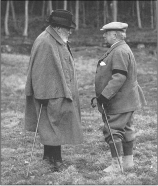 King Edward VII and Lord Burnham