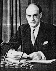 Lord Reith at his desk
