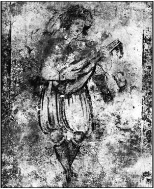 Wall Painting showing a man with Lute