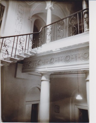 Interior of Wilton Park showing the staircase and plasterwork | Beaconsfield & District Historical Society