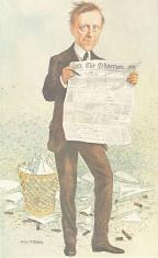 Cartoon of James Garvin from Vanity Fair