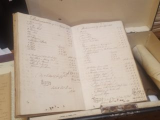 Found in the box - the housekeeper's account book