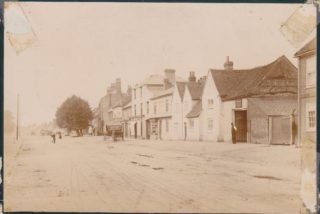 The Poor house on the right with man standing outside  | Beaconsfield & District Historical Society