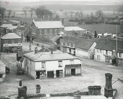 From top of Church Tower showing Days Stores   Beaconsfield & District Historical Society