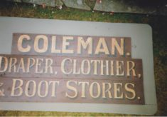 Coleman, Draper, Clothier and Boot Stores
