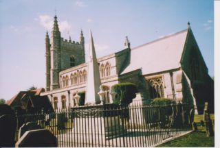St Mary's church with Waller's tomb