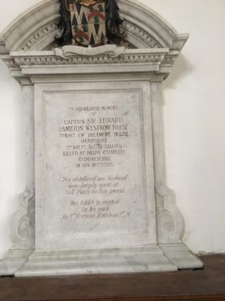 Memorial is on the south side of the church | Clare Bull
