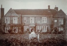 Sepia photograph of Seeley Farm