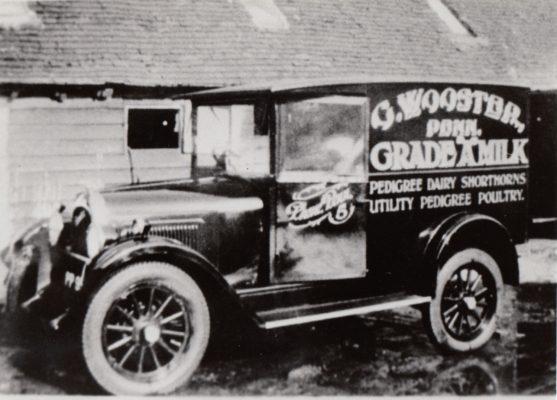 Photograph of dairy trade van