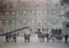 Black and White photograph of Hall Barn Fire Brigade