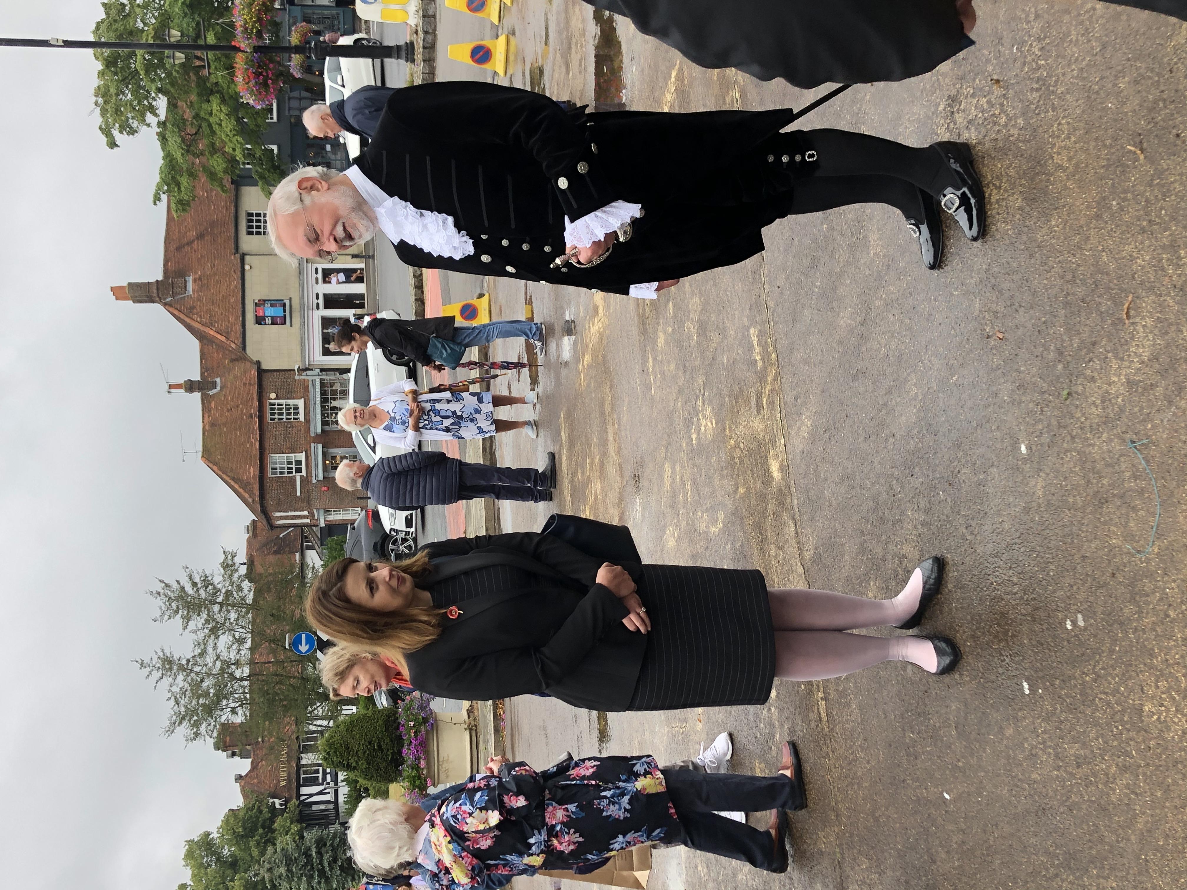Joy Morrissey, M P; Andrew Farncombe, High Sheriff of Buckinghamshire