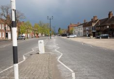 Empty roads in Beaconsfield Old Town during lockdown.