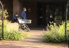 Queue outside Waitrose during lockdown