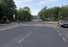 Empty road in Beaconsfield New Town