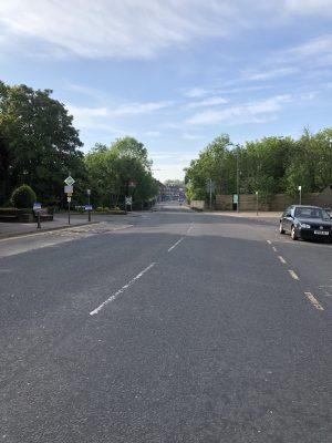 Empty road during April lockdown.   Bull, C