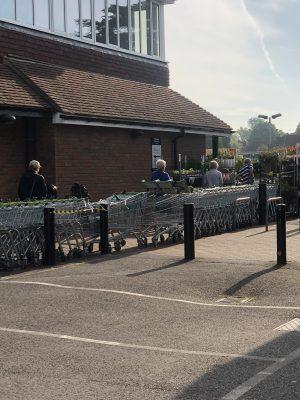 Queue outside Waitrose | Bull, C