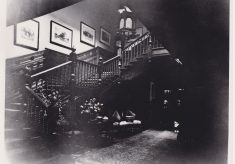 Black & White photograph of interior of [Butler's Court].
