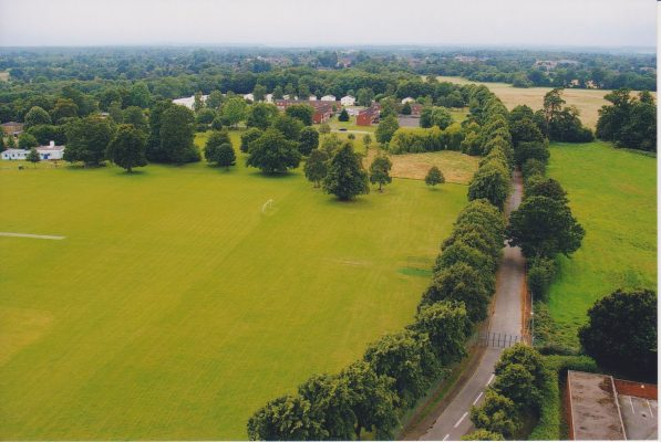 Photograph looking east from Wilton Park