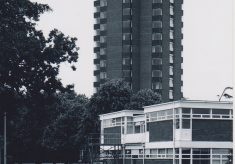 Photograph of the tower block at Wilton Park