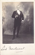 Sepia postcard of Lord Montararat from Iolanthe