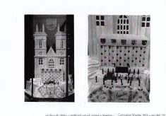 Photographs of towelling Westminster Abbey for coronation display
