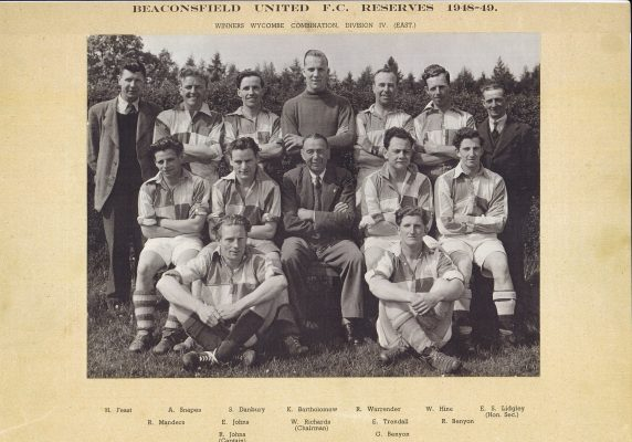 Photograph mounted on black  card of Beaconsfield Football Team 1924-1925 | unknown