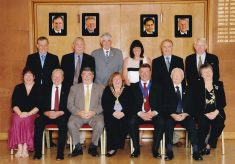 Coloured photograph of the full  Town Council 2010/11.