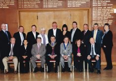 Coloured mounted photograph of the full  Town Council 2011/12.