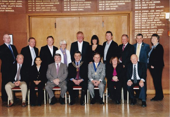 Coloured mounted photograph of the full  Town Council 2011/12. | unknown