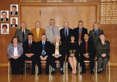 Coloured photograph of the full  Town Council 2008/09.