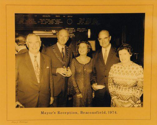Photograph of the Mayor's Reception 1974.   King & Hutchings, Uxbridge