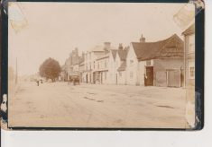 Poor Quality photo London End showing Poor House (Workhouse)
