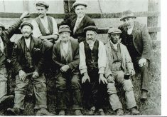 Photograph of a group of locals opposite the Brick Mould in Hedgerley