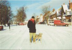 Colour Photo of Windsor End after a fall of snow