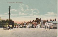 Coloured postcard of Wycombe End