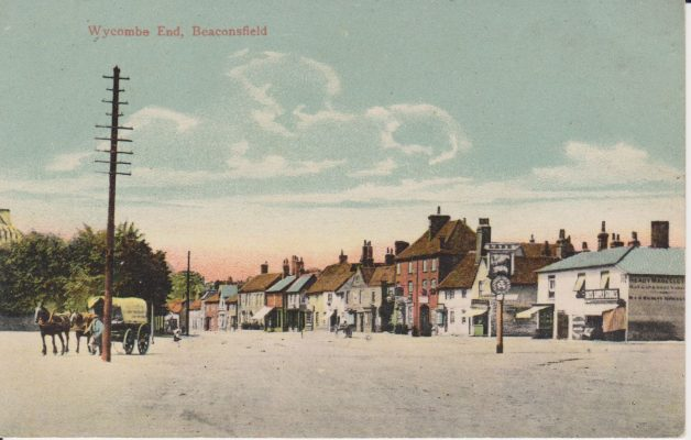 Coloured postcard of Wycombe End | Devonshire, W