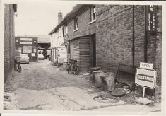 Black and white photograph of Factory Yard in Wycombe End