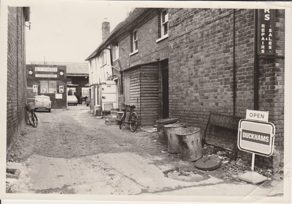 Black and white photograph of Factory Yard in Wycombe End | Unknown