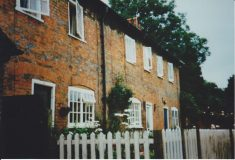 Colour photograph of cottages in Factory Yard