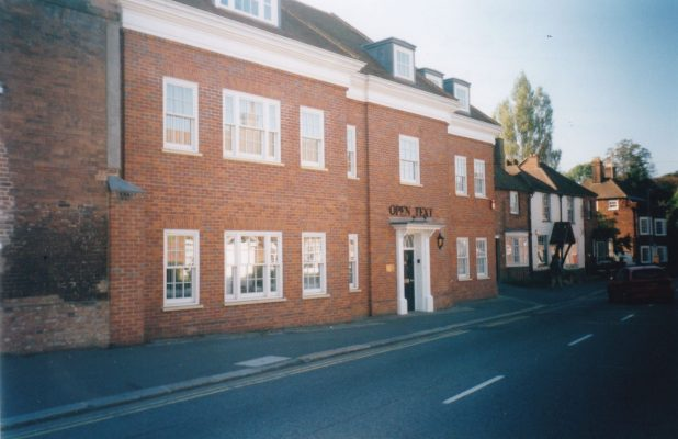 Colour photograph 'Open Text' offices in Wycombe End | Unknown