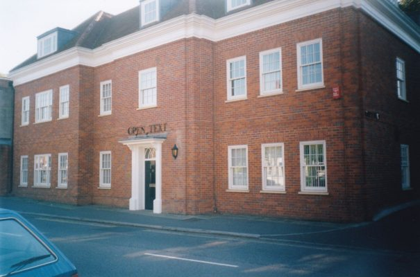 Colour photograph 'Open Text' offices in Wycombe End   Unknown
