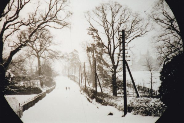 Black & White photograph of Wycombe Road (Oxford Road) in winter | Unknown