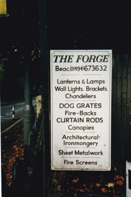 Coloured photo of the sign at the Forge at No 1 Wycombe End | Unknown