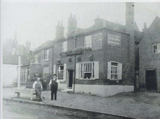 Black and White photo of the Cross Keys Inn Wycombe End | Unknown