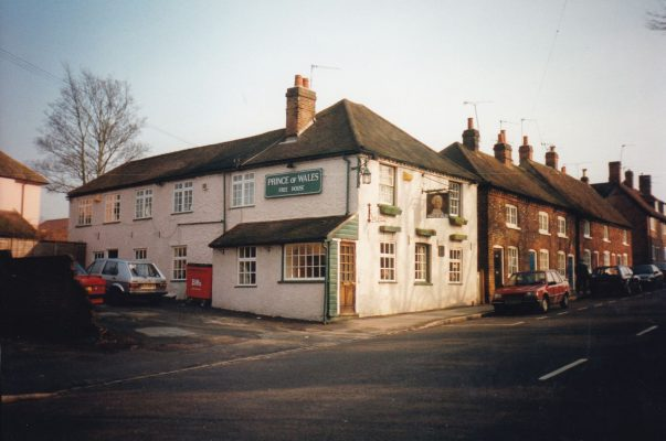 Colour photo of the Prince of Wales Inn in Wycombe End   Unknown
