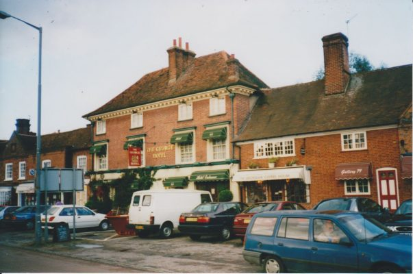 Colour photograph showing the George Inn.