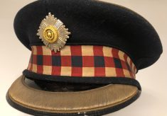 Photograph of Scots Guards Forage Cap which belonged to 5th Baron Burnham
